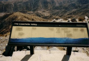 "Schild ""The Coachella Valley"""