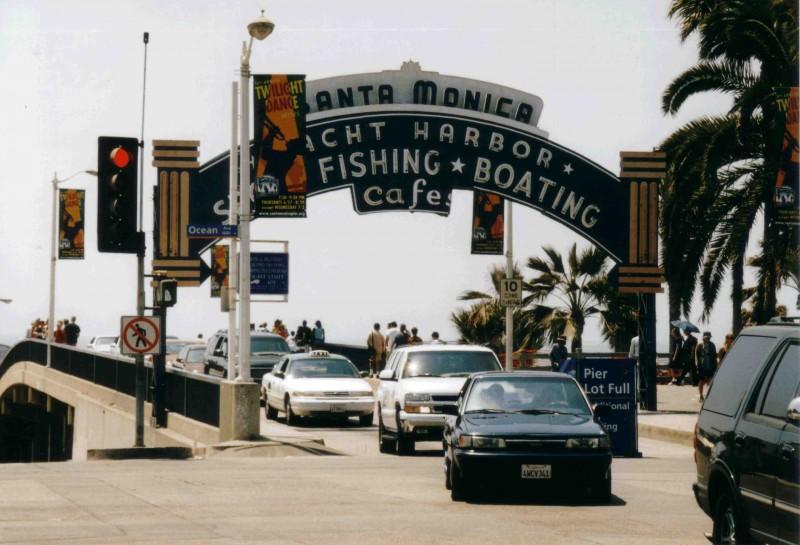 Santa Monica Pier Einfahrt